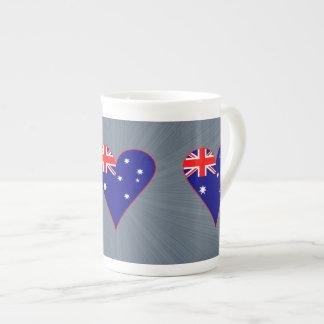 Drapeau génial de coeur de l'Australie avec la Mug