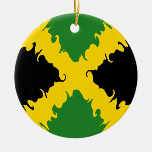 Drapeau gnarly de la jama que ornement rond en c ramique for Acheter maison jamaique