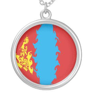Drapeau Gnarly de la Mongolie Pendentifs