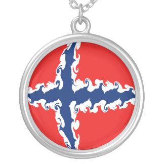 Drapeau Gnarly de la Norvège Collier Personnalisé