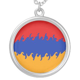 Drapeau Gnarly de l'Arménie Pendentif Rond