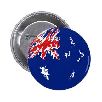 Drapeau Gnarly de l'Australie Badges Avec Agrafe