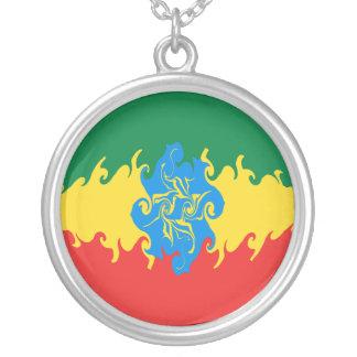 Drapeau Gnarly de l'Ethiopie Pendentif Rond
