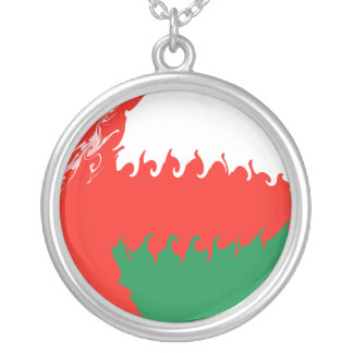 Drapeau Gnarly de l'Oman Pendentifs Personnalisés