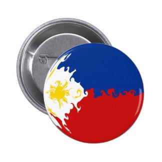 Drapeau Gnarly de Philippines Badge Avec Épingle