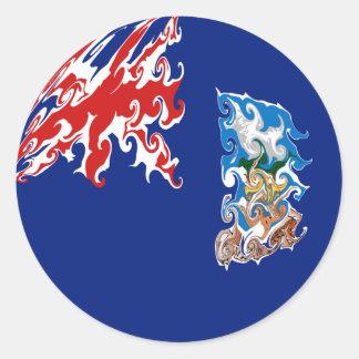 Drapeau Gnarly des Îles Falkland Adhésifs Ronds