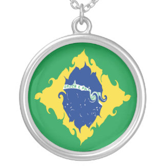Drapeau Gnarly du Brésil Collier