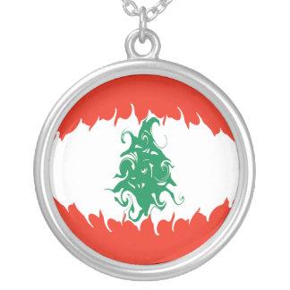 Drapeau Gnarly du Liban Pendentif Rond