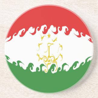 Drapeau Gnarly du Tadjikistan Dessous De Verres
