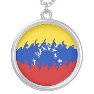 Drapeau Gnarly du Venezuela Pendentif Rond