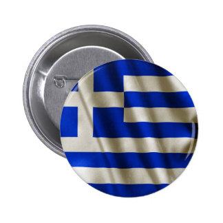 Drapeau grec badge rond 5 cm