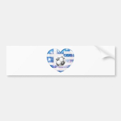 Drapeau grec de coeur du football adhésifs pour voiture