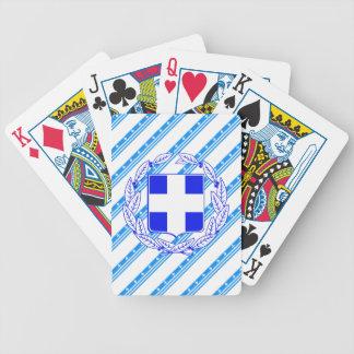 Drapeau grec de rayures jeu de cartes