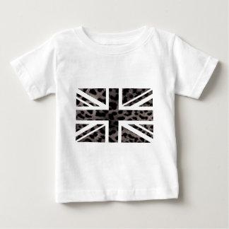 Drapeau gris de Jack les Anglais (R-U) de motif de T-shirt