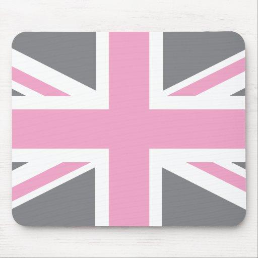 Drapeau gris rose d 39 union jack les anglais r u tapis de souris zazzle - Drapeau anglais gris ...