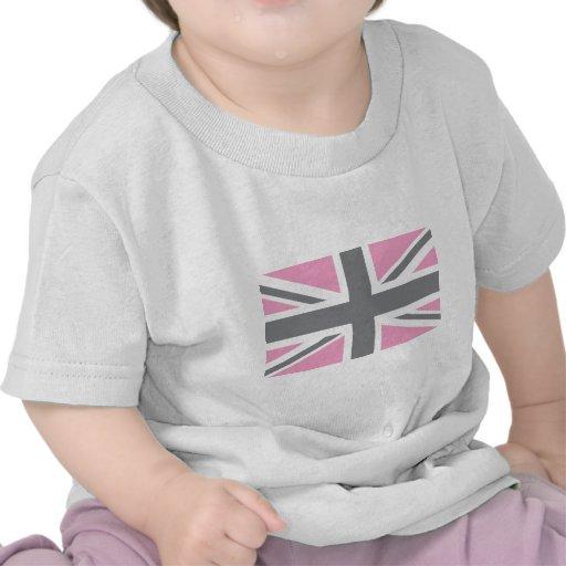 Drapeau gris rose d'Union Jack les Anglais (R-U) T-shirt