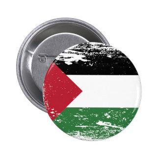 Drapeau grunge de la Palestine Badge Rond 5 Cm