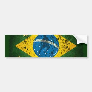 Drapeau grunge du Brésil pour le football de futeb Autocollants Pour Voiture