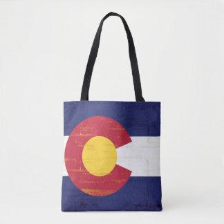 Drapeau grunge du Colorado Sac