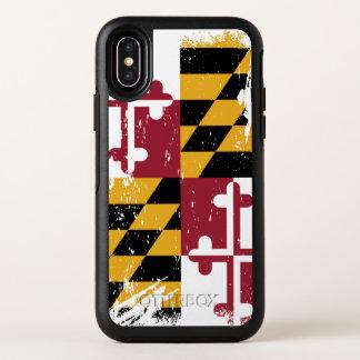 Drapeau grunge du Maryland