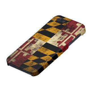 Drapeau grunge du Maryland Étui iPhone 5
