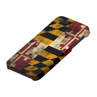 Drapeau grunge du Maryland iPhone 5 Case