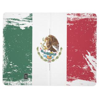 Drapeau grunge du Mexique Carnet De Poche