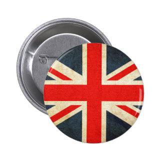 Drapeau grunge du Royaume-Uni Badge Rond 5 Cm