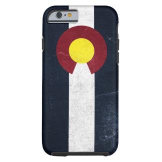 Drapeau grunge foncé du Colorado Coque Tough iPhone 6
