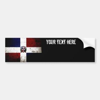 Drapeau grunge noir de la République Dominicaine Autocollant Pour Voiture