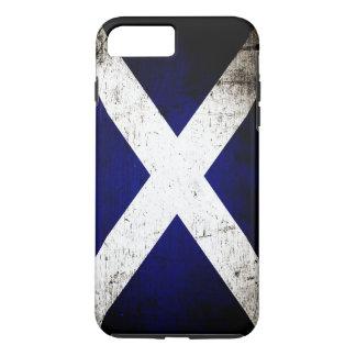 Drapeau grunge noir de l'Ecosse Coque iPhone 7 Plus