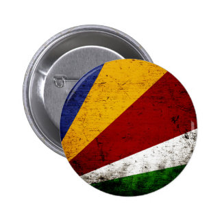 Drapeau grunge noir des Seychelles Badges