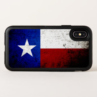 Drapeau grunge noir d'état du Texas