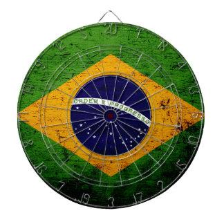 Drapeau grunge noir du Brésil Jeu De Fléchettes
