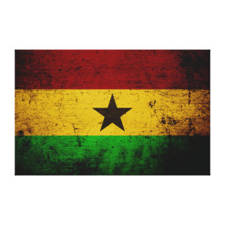 Drapeau grunge noir du Ghana Toile