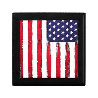 Drapeau grunge patriotique américain boîte à souvenirs