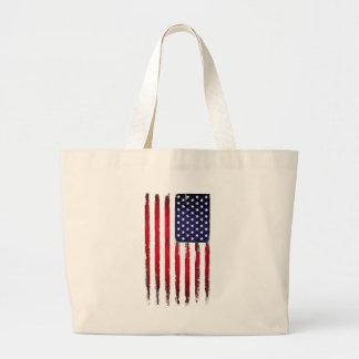 Drapeau grunge patriotique américain grand tote bag