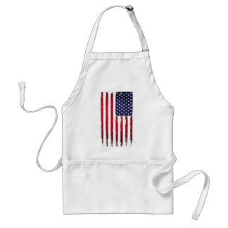 Drapeau grunge patriotique américain tablier