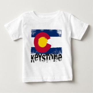Drapeau grunge trapézoïdal t-shirt pour bébé