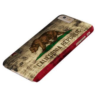 Drapeau grunge vintage de la Californie Coque Barely There iPhone 6 Plus