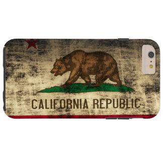 Drapeau grunge vintage de la Californie Coque iPhone 6 Plus Tough