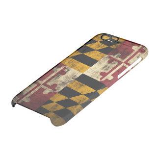 Drapeau grunge vintage du Maryland Coque iPhone 6/6S