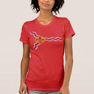 Drapeau grunge vintage mignon de St Louis Missouri T-shirt