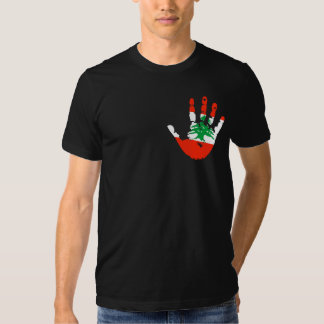 Drapeau Handprint du Liban T-shirt