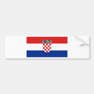 Drapeau heure Hrvatska de la Croatie Autocollant Pour Voiture