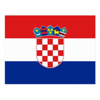 Drapeau heure Hrvatska de la Croatie Carte Postale