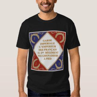 Drapeau impérial de garde t-shirts