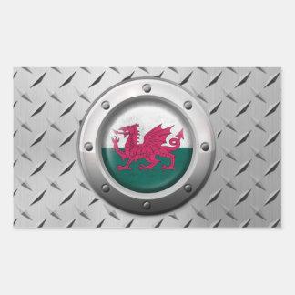 Drapeau industriel de Gallois avec le graphique en Sticker Rectangulaire