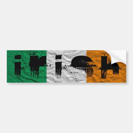 drapeau irlandais adhésifs pour voiture