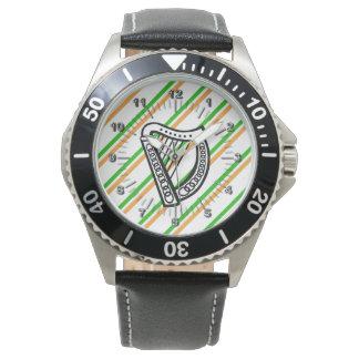 Drapeau irlandais de rayures montres bracelet